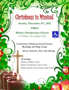 Christmas in Mimico